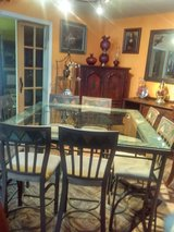 High up bar dinning room set with eight chairs in Camp Pendleton, California