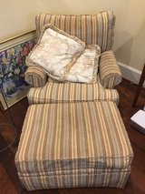 Upholsered Overstuffed Arm Chairs w/ Ottoman in Kingwood, Texas