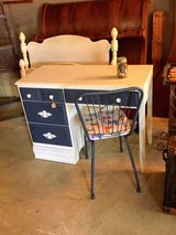 solid maple chalk painted desk with chair in Camp Lejeune, North Carolina