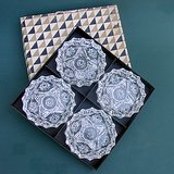 VTG ANCHOR HOCKING EAPC Star of David Clear Glass Ashtrays, Box of 4 in Naperville, Illinois