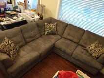 Nice Sectional Sofa with accent pillows in Lackland AFB, Texas