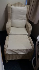 Rattan Lounge-Chair with footchair in Stuttgart, GE