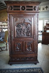 superb Breton cabinet with three dimensional carvings in Stuttgart, GE