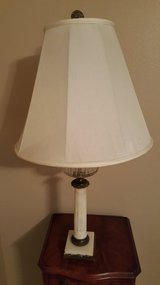 ANTIQUE FRENCH EMPIRE OIL STYLE LAMP WITH HEAVY MARBLE BASE. in Houston, Texas