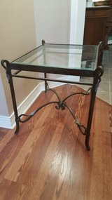 VERY UNIQUE ALL IRON TABLE WITH BEVELED GLASS TOP. in Kingwood, Texas