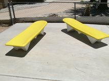 Fiberglass loungers in 29 Palms, California