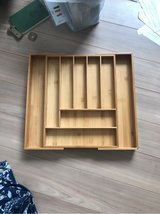 Bamboo Expandable Drawer Organizer in Okinawa, Japan