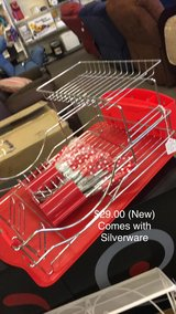 Red Strainer with Silverware (New) in Fort Leonard Wood, Missouri