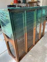 VINTAGE 1960's UNIQUELY MODERN STYLE CABINET W/Glass Shelves and double center doors in Naperville, Illinois