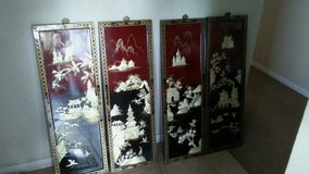 Vintage oriental mother of pearl wall art in 29 Palms, California