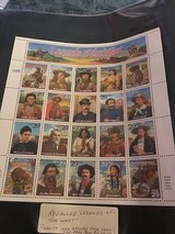 Recalled legends of the west  stamps in Lakenheath, UK
