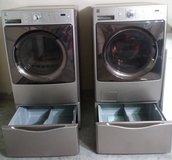 Kenmore Elite Front Load washer and dryer with pedastals in Fort Hood, Texas
