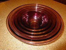 CORNINGWARE  VISIONS CRANBERRY PYREX NESTING BOWLS in Joliet, Illinois