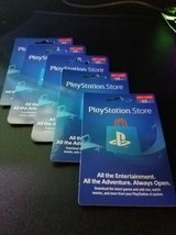 Playstation Store Gift Card - Unscratched (worth $25 each) in Aurora, Illinois