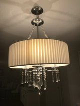 Drum Shade Chandelier with Crystals in Wheaton, Illinois