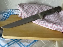 big German butcher knife 8 inch blade, wood handle - old but famous quality in Ramstein, Germany