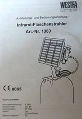 Outside Heater (Infrarot-Flaschenstrahler) in Ramstein, Germany