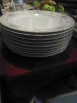 9 Dinner Plates in Diane by Fine Porcelain China of Japan in Houston, Texas