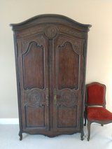 Large French Antique Louis XV Armoire / Wardrobe Cabinet 18th Century in Beaufort, South Carolina