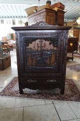 one of a kind hand carved Breton cabinet in Spangdahlem, Germany