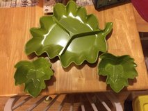 Green Fruit / Snacks Leaf Shaped Dishes (Saucer) in Houston, Texas
