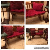 Bench, end table set (marble), pillows and picture frames for $50 total. Top of one end table lo... in Lawton, Oklahoma