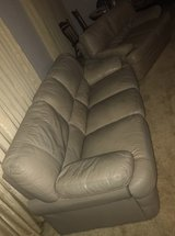 Leather couch and loveseat in Leesville, Louisiana