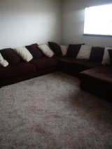Brown Sectional in Lawton, Oklahoma