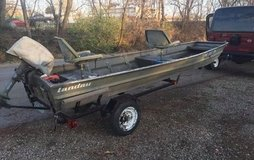 1993 Landau 1447 with 1960 5hp Evinrude and homemade trailer in Fort Leonard Wood, Missouri