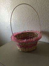 Pink Easter basket in Alamogordo, New Mexico