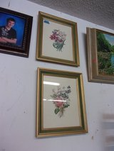 Set of Two Floral Prints in Fort Riley, Kansas