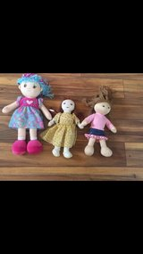 Lot of 3 plush/ fabric dolls $5 for all in Naperville, Illinois
