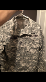 ACU jacket and pants in Fort Campbell, Kentucky
