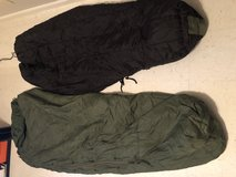 Military sleeping bag in Fort Campbell, Kentucky