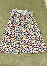 Hanna Andersson Tunic Top White Colorful Polka Dot 6/7 120 in Joliet, Illinois
