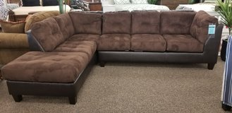 2 PC SECTIONAL IN CHOCOLATE in Cherry Point, North Carolina