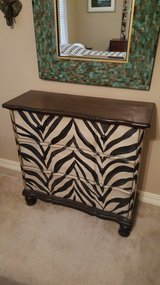 HAND PAINTED ZEBRA PRINT ACCENT CHEST in Kingwood, Texas