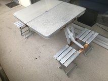Coleman Aluminum Foldable Picnic Bench and Table for 4 in Okinawa, Japan