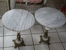 Small Marble Brass Table (Pair) in Wheaton, Illinois