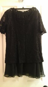 Womens  Lace Black Blouse and Black Skirt Evening Wear Size 14 New with Tags! in St. Charles, Illinois