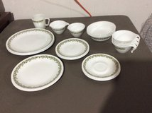 Set of 24 Corelle Crazy Daisy Dishes in Lockport, Illinois