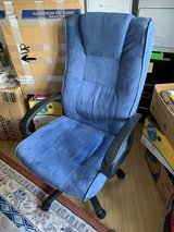 Blue Fabric German Desk Chair in Spangdahlem, Germany