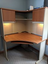 Corner Desk with Hutch and Keyboard Tray in Cherry Point, North Carolina