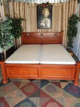 King size Hard wood Sleigh Bed with boxsprings in Clarksville, Tennessee