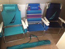 Nautica beach chairs and umbrella in Fort Riley, Kansas