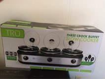 Three crock buffet slow cooker in Fort Riley, Kansas