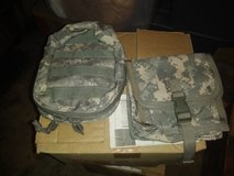Different size military pouches in Fort Leonard Wood, Missouri