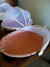 Covered Wicker Basket Trays in Fort Riley, Kansas