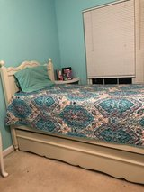 White twin bed w/pull out twin bed/storage area in Quantico, Virginia