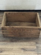 Vintage Wood Crate in Fort Campbell, Kentucky